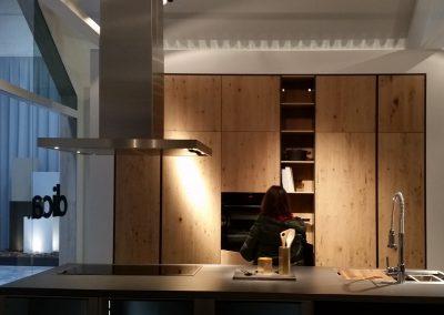 Muebles de madera en cocina