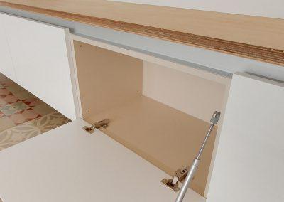 Acabados de calidad en mobiliario cocina