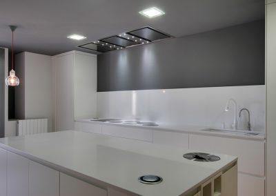 Juego de iluminación en cocina
