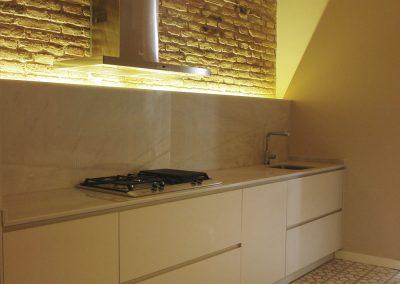 Pavimento de mosaico hidráulico en cocina