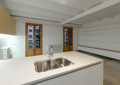 Cocina y salón diáfanos