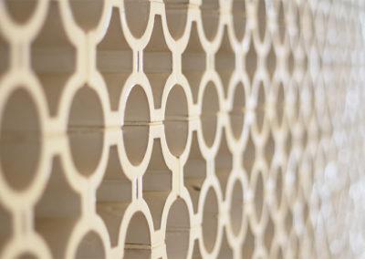 Detalles mampara de celosía cerámica