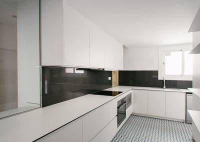 Reforma cocina en piso de 80 metros cuadrados